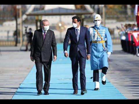Official Welcoming Ceremony for Emir of Qatar Sheikh Tamim bin Hamad Al Thani