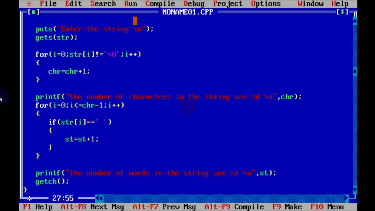 Useful program for counting letters in the text