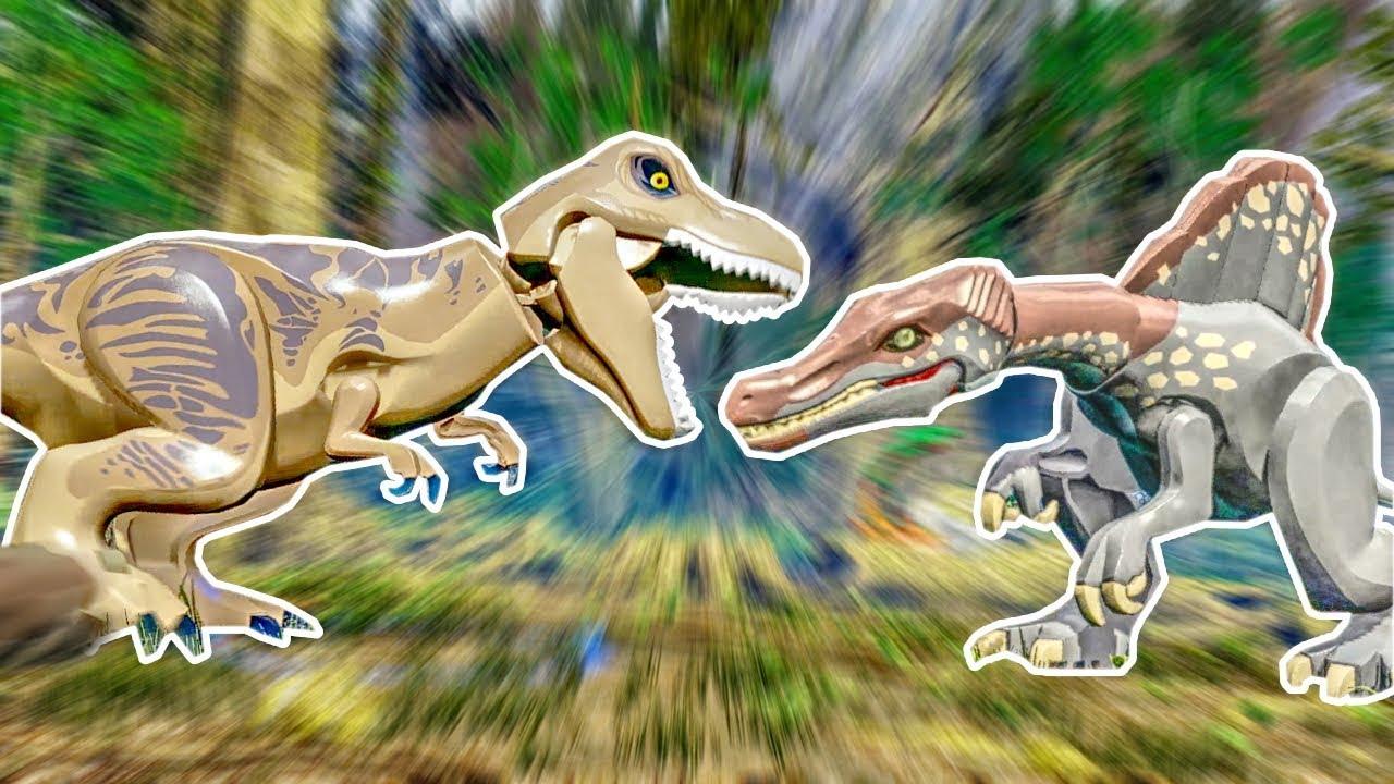 Lego Jurassic World | HUGE DINOSAUR FIGHT! | Lego Jurassic World HD  Gameplay - Part 11