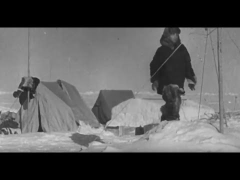 """""""На льдине все в порядке""""  1937 год. Бесценные кадры кинохроники 1-й полярной экспедиции, И.Папанина"""