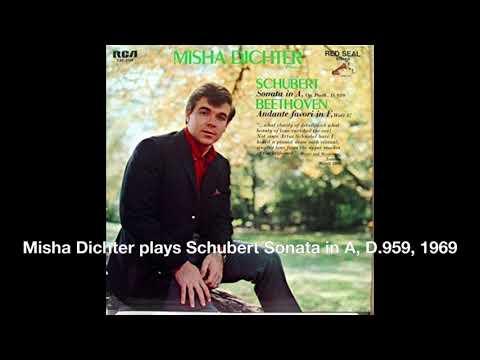 Misha Dichter plays Schubert Sonata in A, D 959, 1969