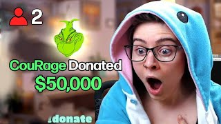 Donating $50,000 to small streamers!