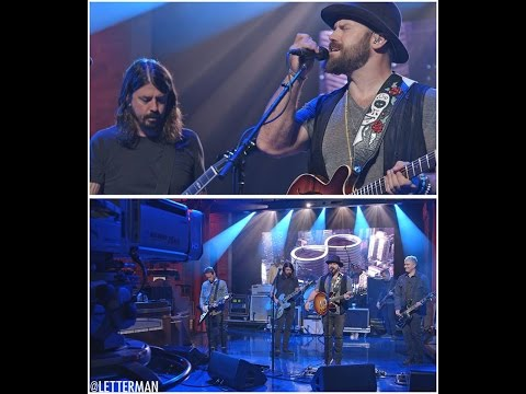Foo Fighters with Zac Brown - War Pigs Cover Late Show with Letterman 10/13/2014