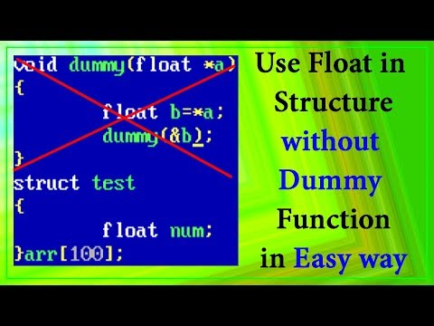 How to use float data type in structure without use of dummy function in C in hindi - 'No1 Tech'