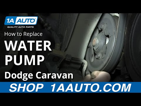 How To Replace Water Pump 01 07 3 3L 3 8L Dodge Caravan