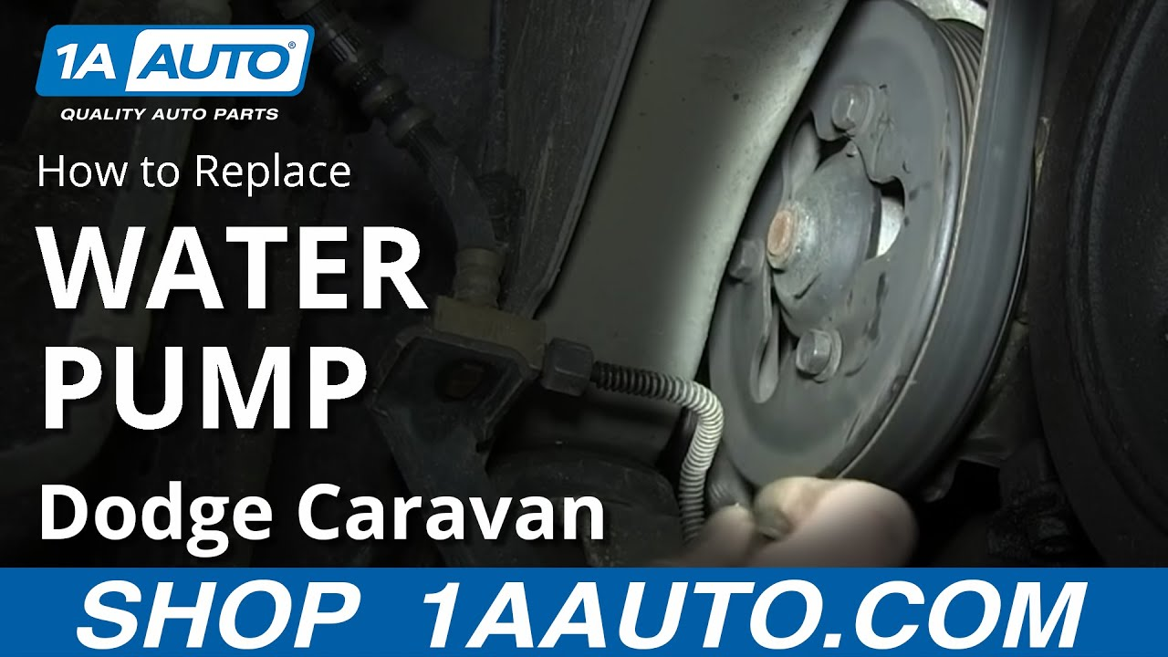 medium resolution of how to replace water pump 01 07 3 3l 3 8l dodge caravan