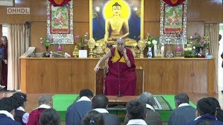 Dalai Lama speaks on importance of Sowa Rigpa to outgoing students