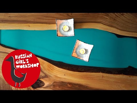 Make a Epoxy Resin River Table Using Clear Epoxy Resin