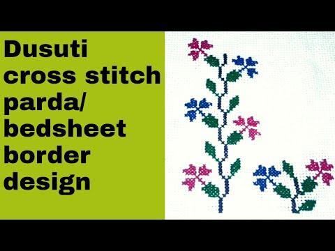 dusuti embroidery beautiful parda/bedsheet design