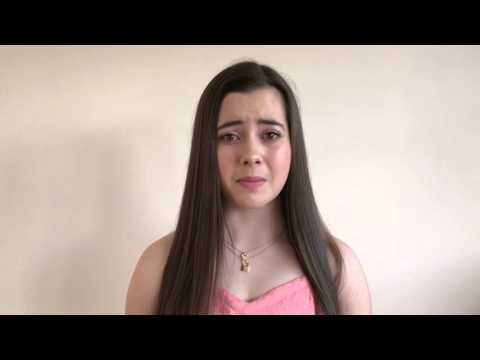 Chloe Hackett performing a monologue from 'High School Musical 2'
