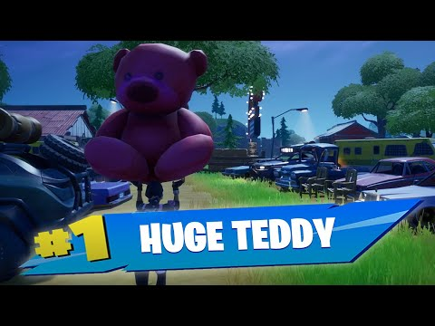Carry A Giant Pink Teddy Bear Found In Risky Reels Fortnite
