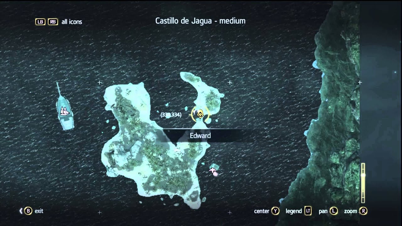 Assassin S Creed 4 Black Flag Treasure Map Location 327 334 Youtube