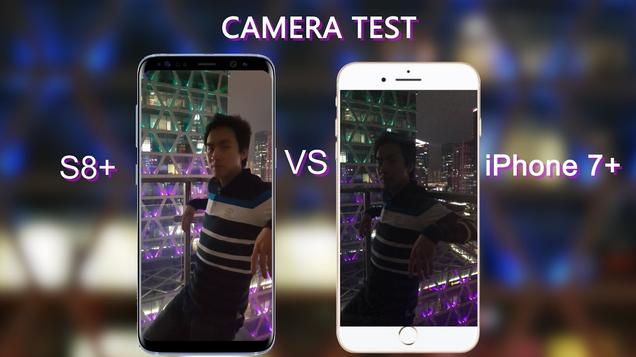 galaxy s8 plus vs iphone 7 plus camera test 4k low light portrait slow mo auto focus youtube. Black Bedroom Furniture Sets. Home Design Ideas