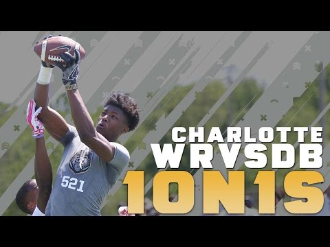 Nike Football's The Opening Charlotte 2016 | WR vs DB 1 on 1's