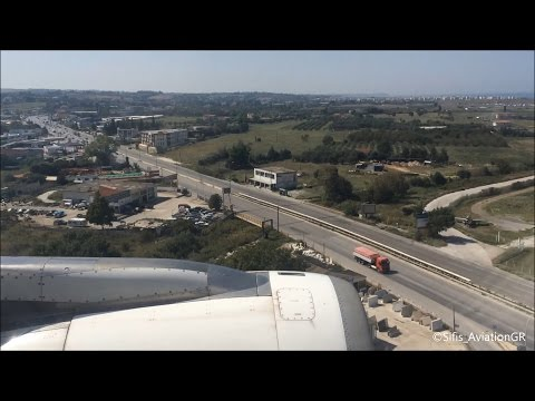 Aegean A320 Gorgeous Summer Landing at Thessaloniki [HD]