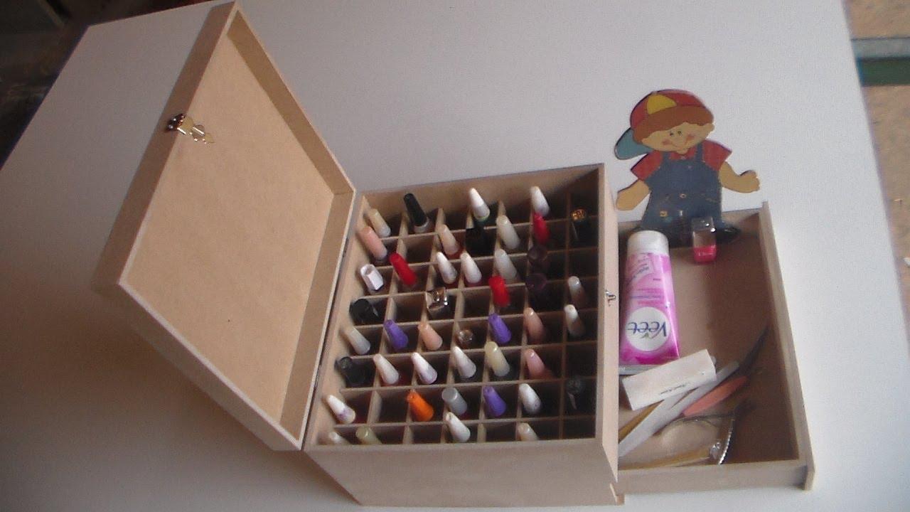 Artesanato Simples Como Fazer ~ como fazer Caixa p esmalte feita em mdf (artesanato