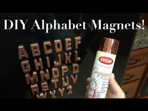 DIY Alphabet Magnets!