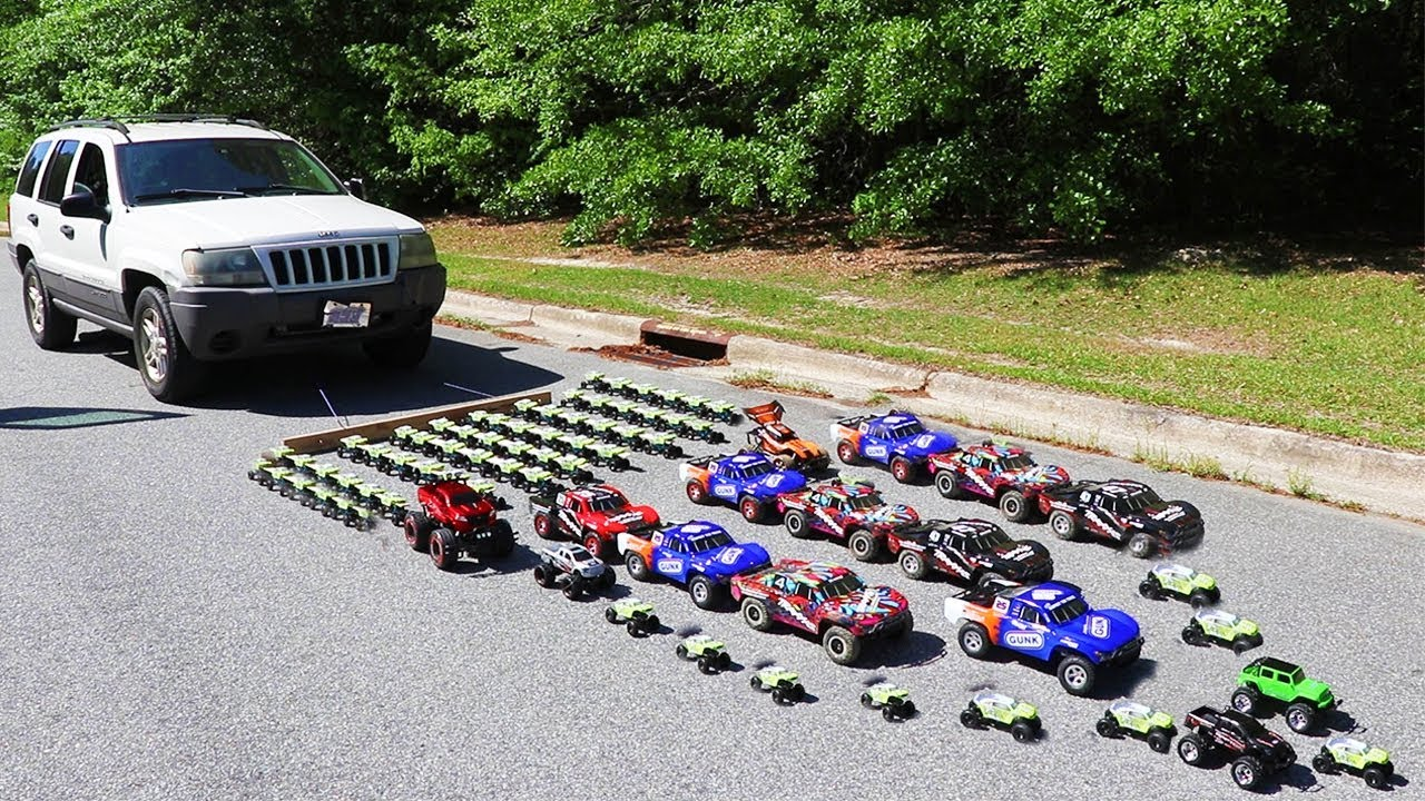 How Many Toy Cars Does It Take To Pull A Real Car? - YouTube