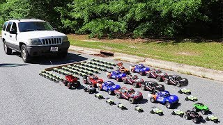 How Many Toy Cars Does It Take To Pull A Real Car? thumbnail