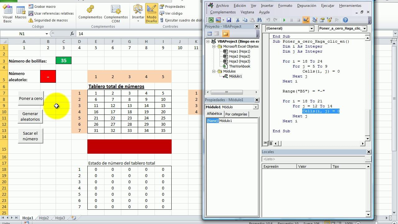 Como Hacer Un Bingo En Excel Youtube