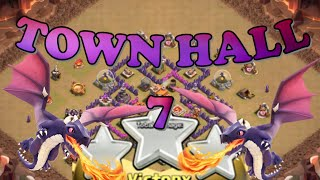 TOWN HALL 7 3 STAR STRATEGY :: CLASH OF CLANS :: DRAGONS AND BALLOONS