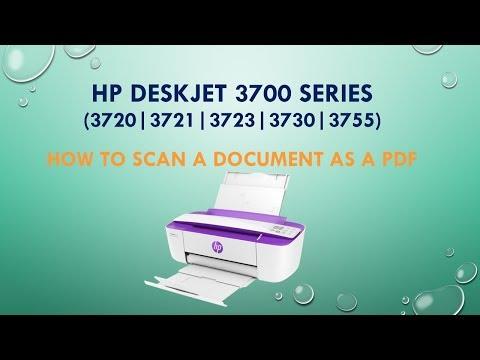 HP Deskjet 3720 | 3721 | 3730 | 3755 | Scan a document as a PDF