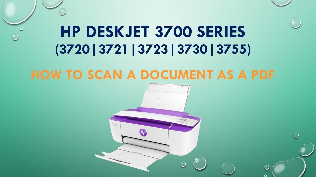 HP Deskjet 3720 | 3721 | 3730 | 3755 | Scan a document as a PDF