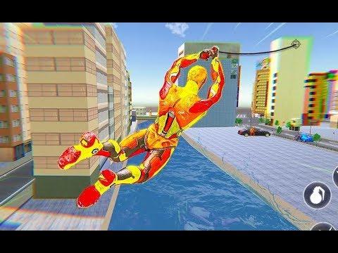 Flying Robot Rope Hero - Vegas Crime City Gangster | Robot Rope Superhero - Android GamePlay
