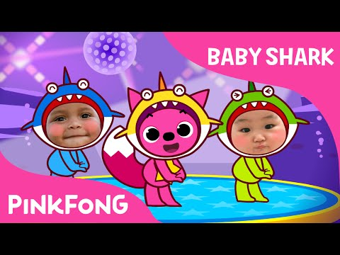 Baby Shark Dance With Kids Wearing Shark Costumes! | Animal Songs | PINKFONG Songs for Children