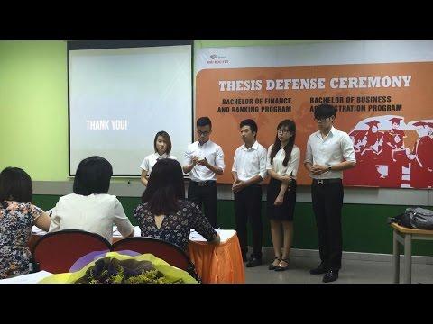FU Spring 2015 Thesis Defense - Bachelor of Business Adminis