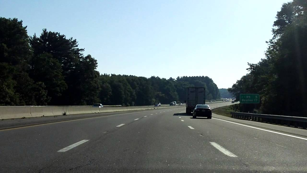 3k In Miles >> Massachusetts Turnpike (Interstate 90 Exits 13 to 15) eastbound - YouTube