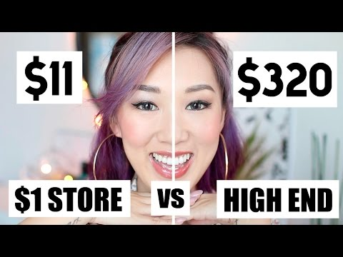 $1 Dollar Tree Makeup vs High End MAKEUP CHALLENGE!!  | IAMKARENO
