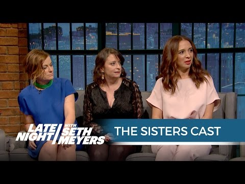 The Sisters Cast Talks Working with John Cena - Late Night with Seth Meyers