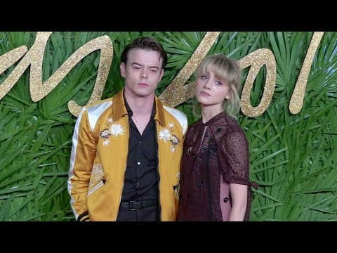 Charlie Heaton and Natalia Dyer on the red carpet for the The Fashion Awards 2017 in London
