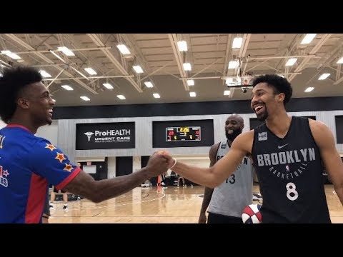 Tricks with the Brooklyn Nets | Harlem Globetrotters