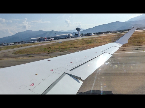 [4K] Eurowings CRJ-900 D-ACNT take-off from sunny Bastia Poretta Airport