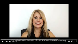 A Message from Christina Rowe, Founder of the South Florida Business Owners Directory