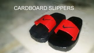 DIY slippers||How to make cardboard slippers at home