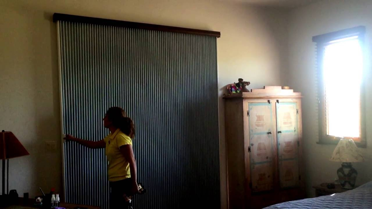 Vertical Honeycomb Blinds For Sliding Door Youtube