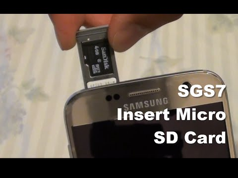 Samsung Galaxy S7: How to Insert / Remove Micro SD Card