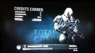 Halo Reach Ranking up to Lt. Colonel