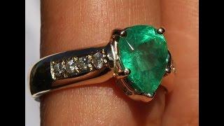 HIGH QUALITY GEM EMERALD COLOMBIAN DIAMOND 14K RING NO RESERVE !