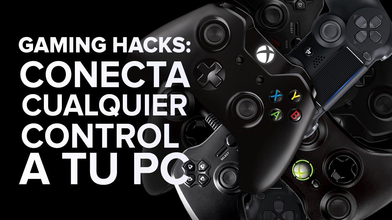 gaming hacks cómo conectar cualquier control a tu pc youtube