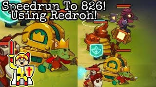 Almost A Hero - Speedrun To 826 Using The New Hero Redroh[Spoiler]
