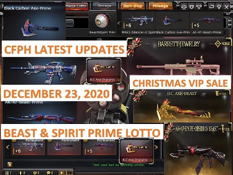 CrossFire Philippines:New Patch Update December 23, 2020 NEW BEAST U0026 SPIRIT PRIME LOTTO AND VIP SALE