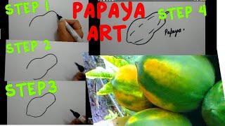 How to draw PAPAYA