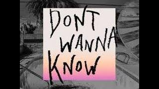 DON'T WANNA KNOW - MAROON 5 (ACOUSTIC GUITAR KARAOKE + LYRICS)