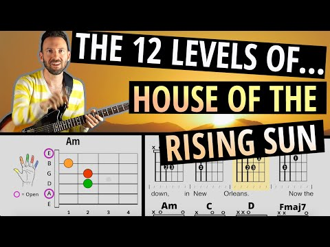 """BEST BEGINNER SONG to Learn and Grow With! 12 LEVELS of """"House of the Rising Sun"""" Guitar Lesson"""
