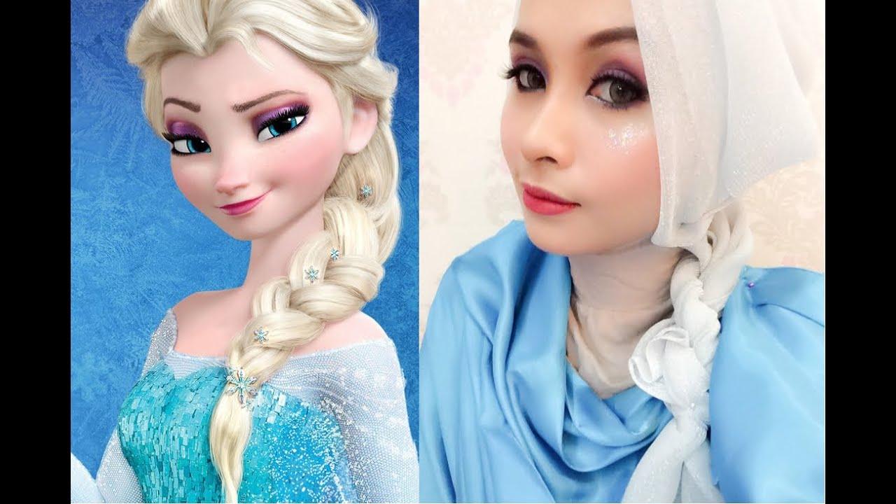 Disney S Queen Elsa Frozen Inspired Makeup Tutorial
