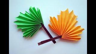 Воздушный шар. Аппликация из цветной бумаги. Поделки на 23 февраля для детей в школу и садик.
